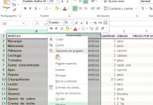Opción del menú para Mostrar la columna en cómo ocultar y mostrar columnas en Excel