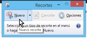 Botón para hacer un nuevo recorte en cómo tomar una captura de pantalla parcial