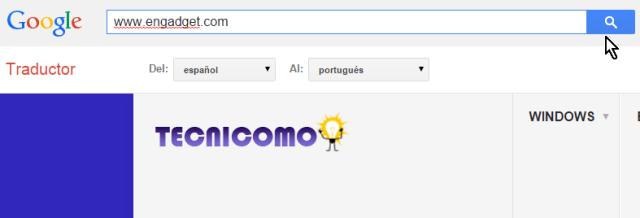 Cambiando la página web a traducir en cómo traducir páginas web con el traductor de Google