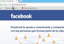 Página principal de Facebook en español de Latinoamérica en cómo abrir Facebook en Español