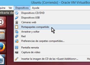 Cómo compartir el portapapeles en VirtualBox