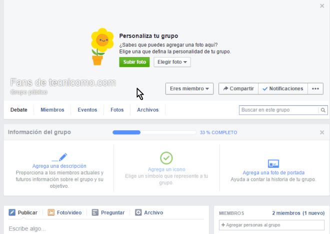 Grupo cerrado finalmente creado en cómo crear un grupo privado en Facebook