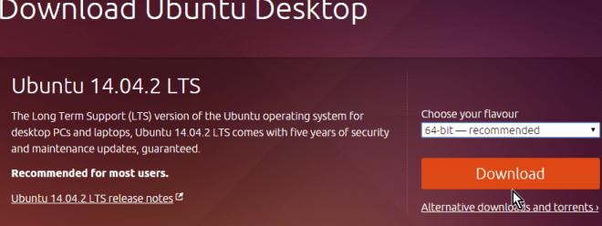Botón Download para descargar Ubuntu en cómo descargar Ubuntu ISO en español gratis