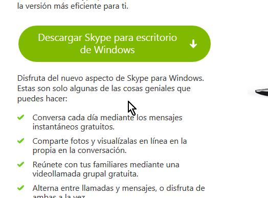 Botón para descargar Skype para Escritorio en cómo descargar e instalar Skype en Windows 8