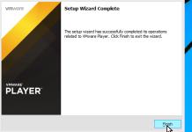 Ventana que indica que la instalaición de VMWare Player fue exitosa en cómo descargar e instalar VMWare en español