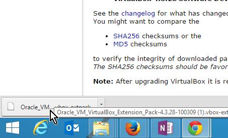 Archivo con el paquete de extensión de VirtualBox descargado en cómo descargar e instalar VirtualBox Extension Pack
