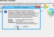 Botón Instalar en cómo descargar e instalar VirtualBox Extension Pack