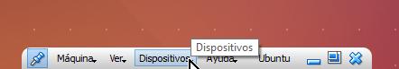 Opción Dispositivos de la barra de herramientas de VirtualBox en cómo habilitar arrastrar y soltar en VirtualBox