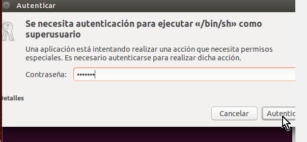 Pantalla para Autorizar y Autenticar instalación de Guest Additions en cómo instalar los Guest Additions de VirtualBox en Ubuntu
