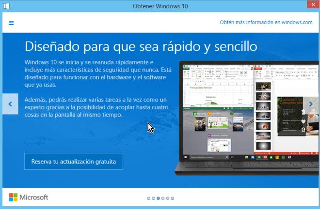 Explica cambios hechos en Windows 10 para seguridad y rapidez en cómo reservar tu copia de Windows 10 gratis