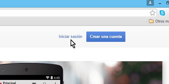 Enlace para Iniciar sesión en cómo cambiar la contraseña de Gmail