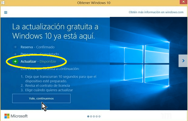 Windows 10 ya descargado y listo para ser instalado en cómo instalar Windows 10 usando la actualización automática