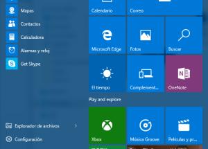 Cómo acceder al menú de Inicio en Windows 10