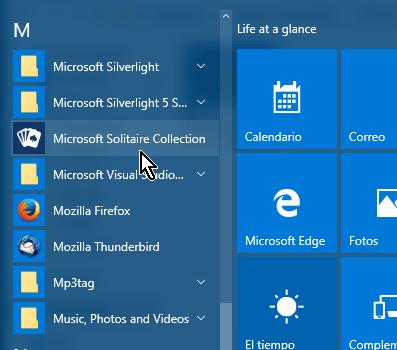 Selecciona la aplicación Microsoft Solitaire Collection en cómo jugar solitario en Windows 10