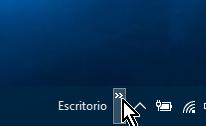 Indicador de la Barra de herramientas en cómo abrir el Panel de control en Windows 10