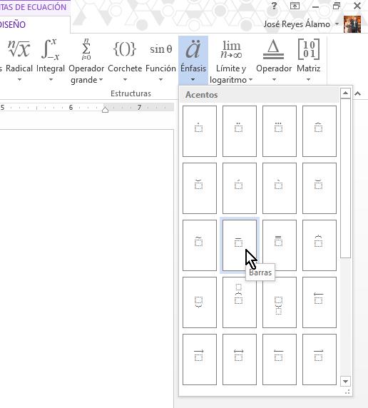 Botón Barras con raya superior en cómo colocar una raya encima del texto en Word 2013
