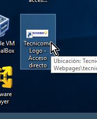 Acceso directo creado en el Escritorio en cómo crear un acceso directo en Windows 10