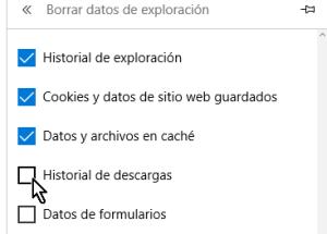 Cómo borrar el historial de Microsoft Edge