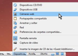 Cómo utilizar la cámara web en VirtualBox