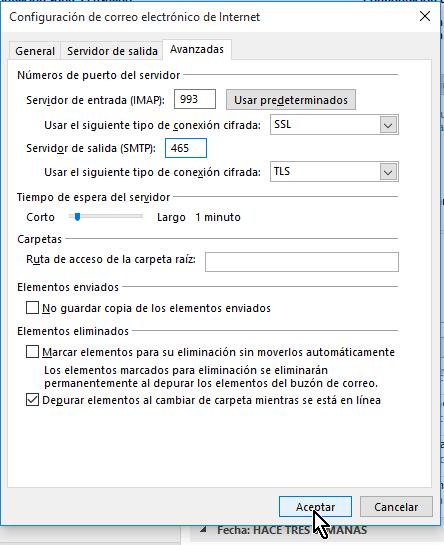 Configuración Avanzada de Gmail en Outlook 2013  en cómo configurar tu cuenta de Gmail en Outlook 2013 usando IMAP