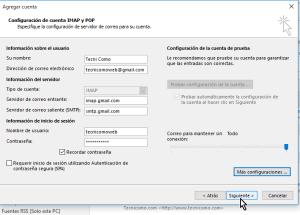 Cómo configurar tu cuenta de Gmail en Outlook 2013 usando IMAP