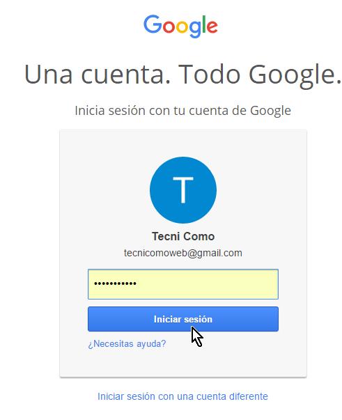 Autenticándote a tu cuenta de Gmail en cómo permitir aplicaciones menos seguras en mi cuenta de Google