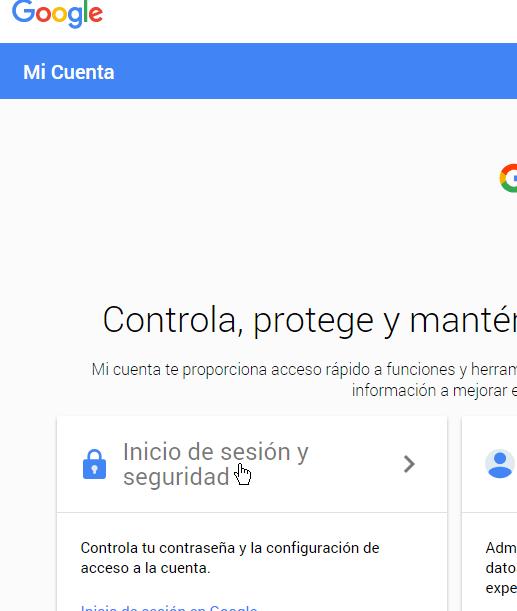 Opciones de seguridad en cómo permitir aplicaciones menos seguras en mi cuenta de Google
