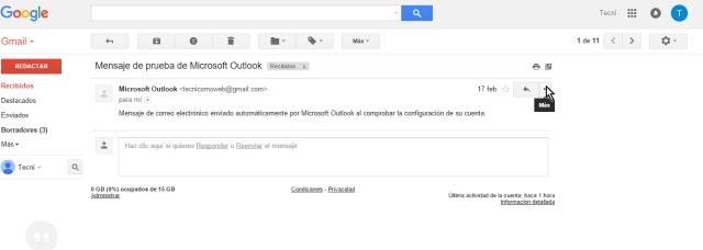 Cliqueando la flecha del encabezado del correo en cómo borrar un mensaje en Gmail