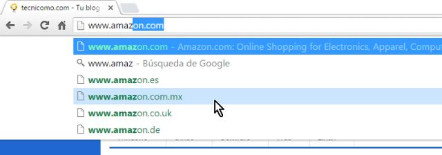 Barra de direcciones con sugerencias de búsquedas activada en cómo eliminar todas las sugerencias de búsquedas en Google Chrome