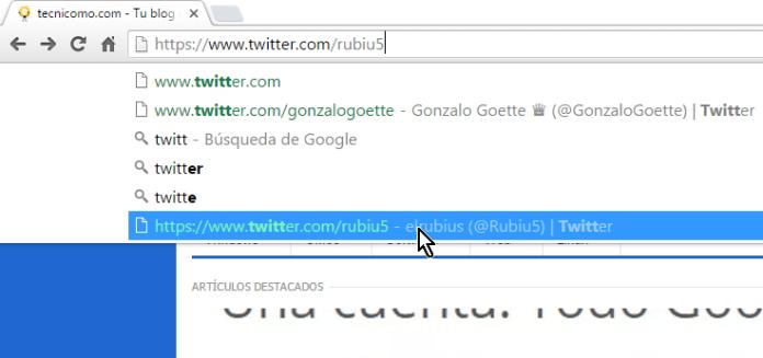 Sugerencia que deseamos eliminar en cómo eliminar una sugerencia de la barra de direcciones de Google Chrome
