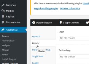 Cómo personalizar las opciones del encabezado del tema FreshLife de WordPress