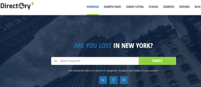 Plantilla Directory en temas premium de WordPress disponibles en español