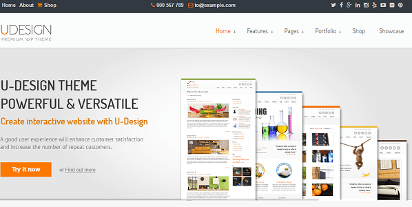 Plantilla UDesign en temas premium de WordPress disponibles en español