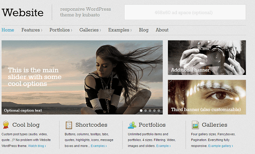 Plantilla Website en temas premium de WordPress disponibles en español