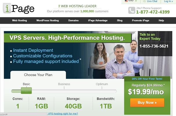 Análisis de los servidores virtuales privados de iPage