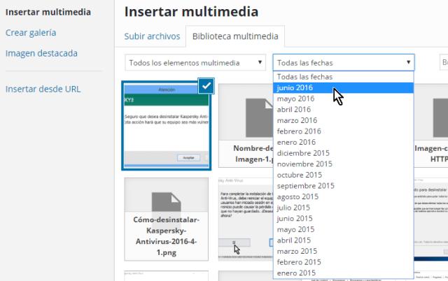 Mes corriente en Insertar multimedia en cómo resolver el error HTTP al subir imágenes en WordPress