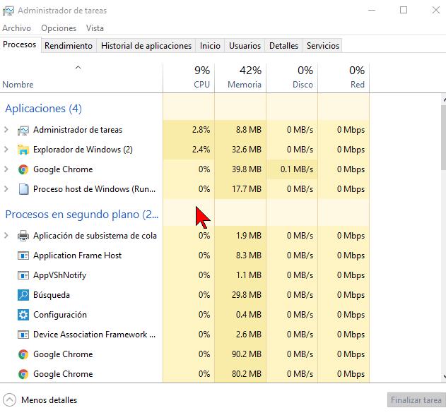 Captura de pantalla en cómo acceder al Administrador de tareas en Windows 10