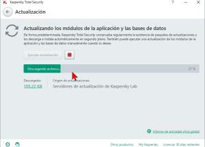 Cómo actualizar el antivirus Kaspersky Total Security multidispositivos 2016 manualmente