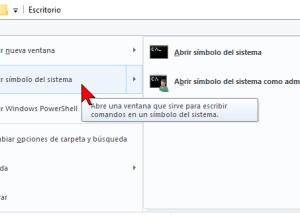 Cómo abrir el Símbolo del sistema en Windows 10