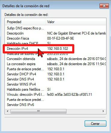 Dirección IPv4 en cómo hallar la dirección de IP de tu computadora