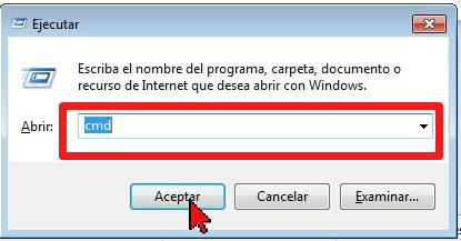 Ejecutando Símbolo de sistema en cómo hallar la dirección de IP de tu computadora