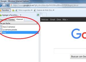 Cómo acceder al historial de exploración de Internet Explorer