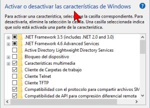 Cómo activar o desactivar las características de Windows 10
