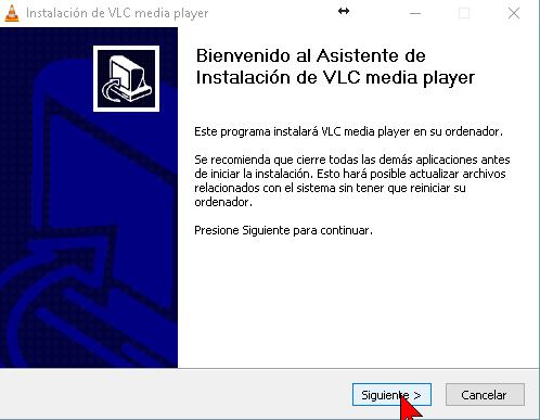 Asistente de instalación VLC en cómo descargar e instalar el reproductor VLC media player en español