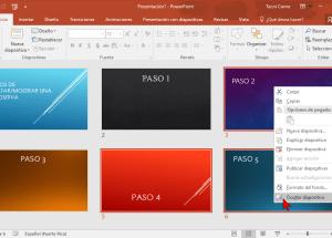 Cómo ocultar una diapositiva de PowerPoint 2016 sin borrarla