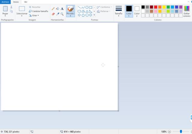 Programa Microsoft Paint en cómo crear una foto de portada para Facebook del tamaño ideal