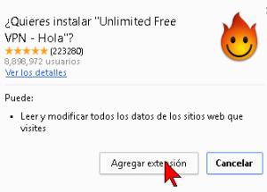 Cómo descargar e instalar Hola VPN para Google Chrome