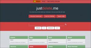 link diretti per eliminare account dai siti web