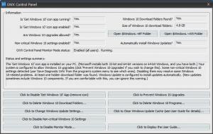 schermata programma gwx control panel