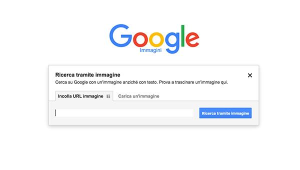 ricerca tramite immagini con google